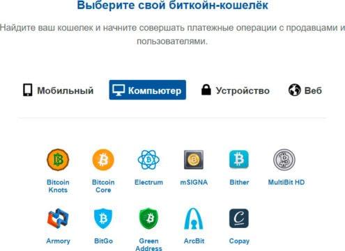 Биткоин, выбор кошелька, bitcoin.org