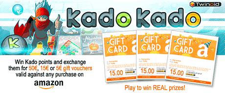 Играй и получай призы, - подарочные карты Amazon от KadoKado