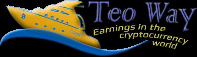 Логотип TeoWay.com, путь Тео, яхта, путь к финансовой независимости